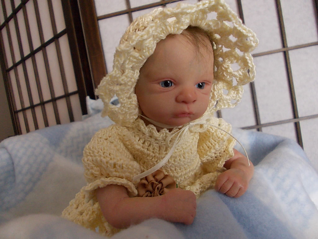 Reborn baby girl Aliah was Flora by Gudrun Legler.  Reborn by Sharla Field of Silvery Moon Cherubs