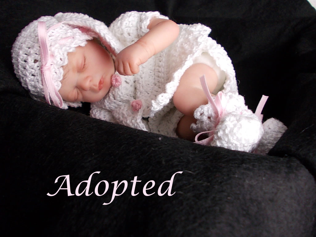 Reborn baby girl doll Jessica was Florian by Gudrun Legler.  Reborn by Sharla Field of Silvery Moon Cherubs