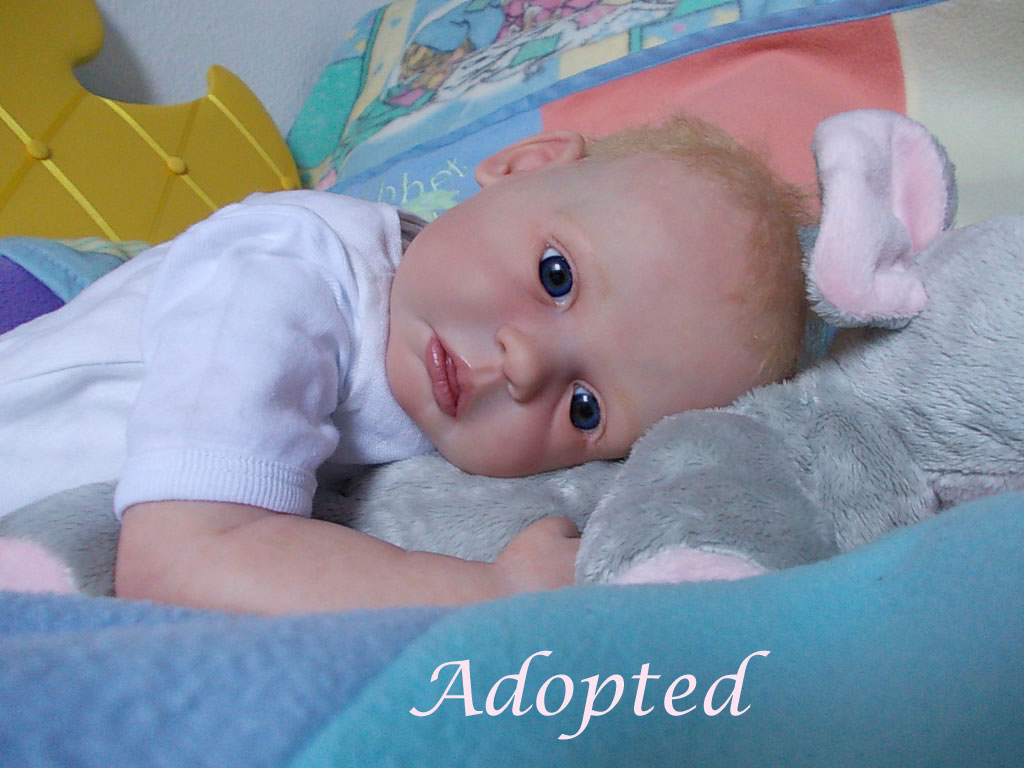 Reborn baby girl Elizabeth Anne was Gracie sculpt by Ann Timmerman