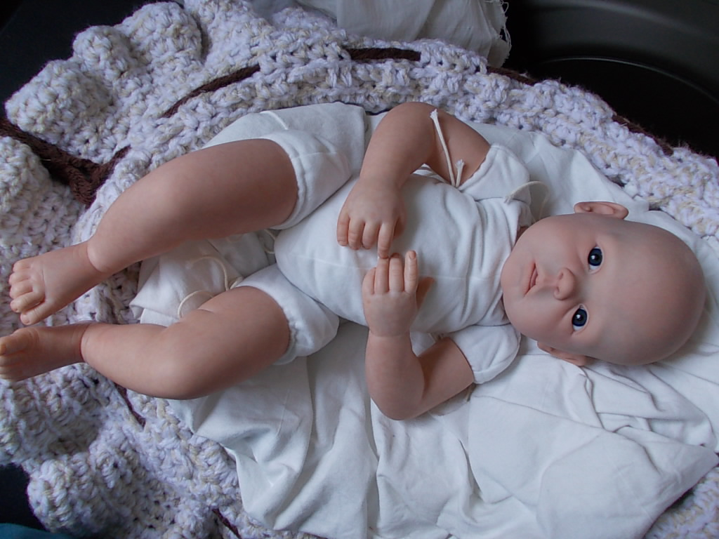 WIP Gracie by Ann Timmerman - Reborn doll - baby girl reborn by artist Sharla Field at Silvery Moon Cherubs nursery