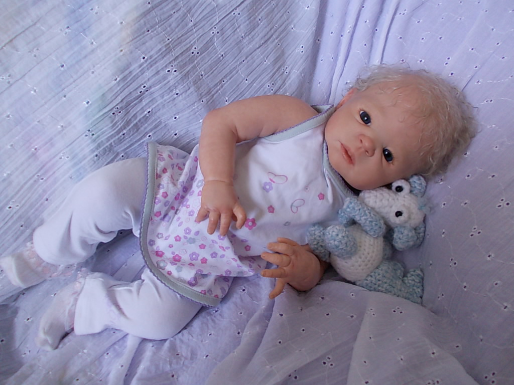 Reborn baby doll Graysen - was Victoria by Sheila Michael