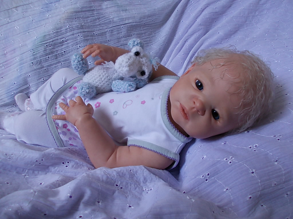 Graysen - reborn doll - Victoria sculpt by Sheila Michael reborn by Sharla Field of silverymooncherubs.com