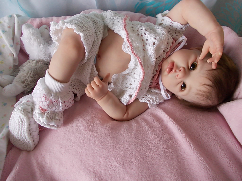 Reborn baby girl doll Krista by Linda Murray reborn by Sharla Field of Silvery Moon Cherubs.